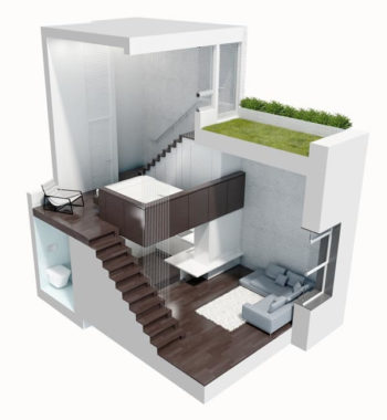 Rendering of the micro-loft.
