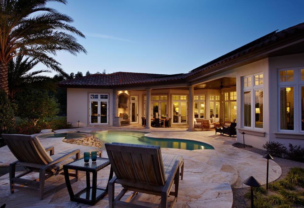 A PV array helps this luxury home achieve net zero energy.