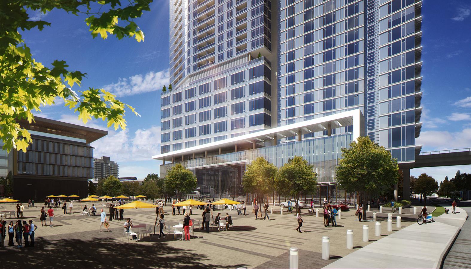 3 Civic Plaza Exterior Rendering Inventive Design