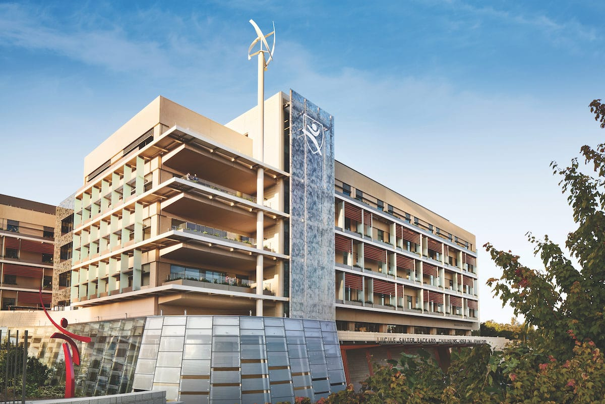 Exterior View Lucile Packard Children's Hospital patient-centric design