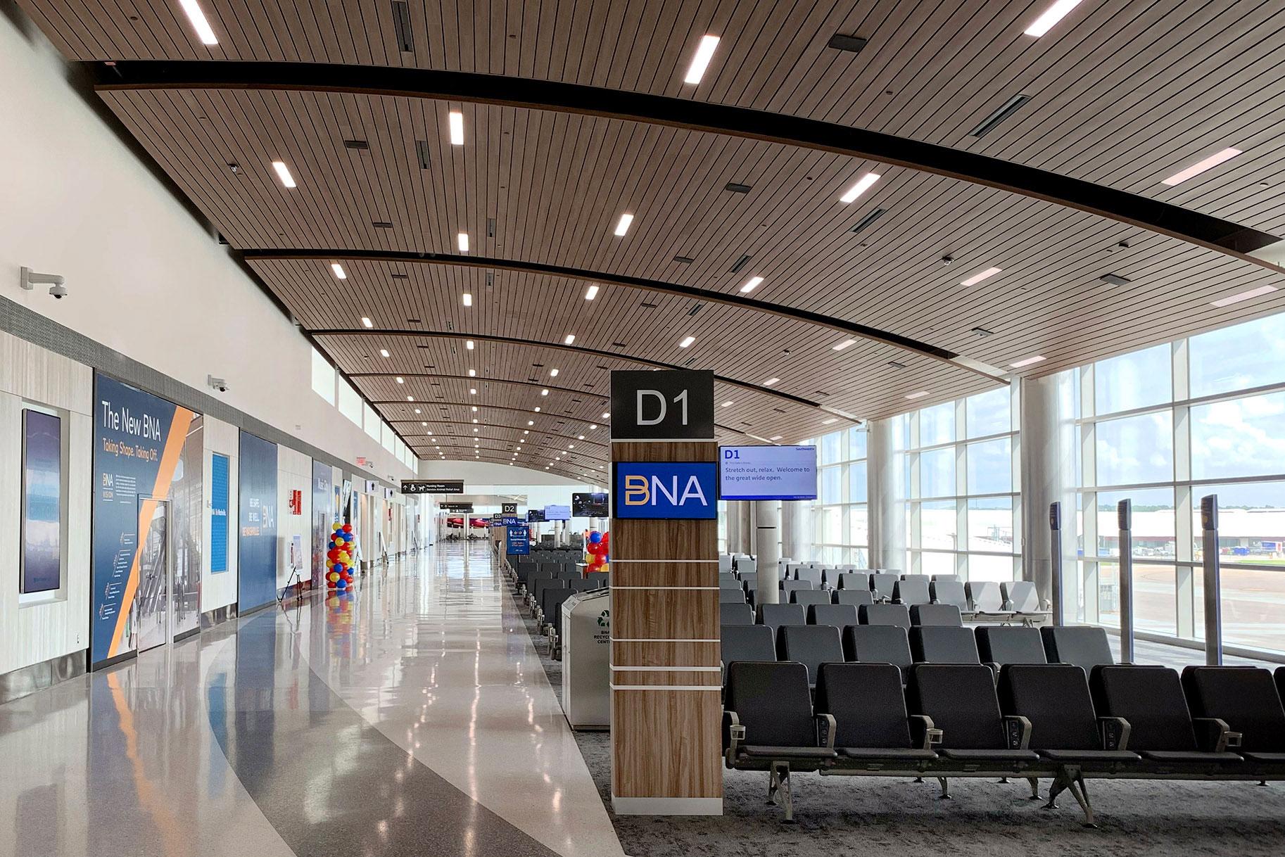 sustainable airport design nashville international airport concourse d fentress architects gbd magazine
